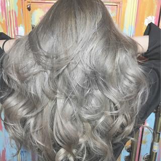 エレガント 透明感 ブリーチ 上品 ヘアスタイルや髪型の写真・画像