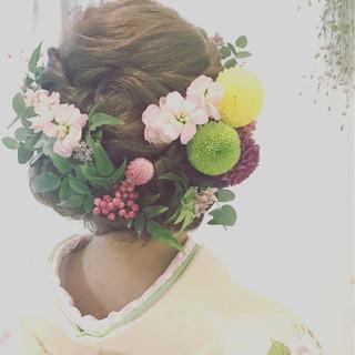 振袖 着物 成人式 和服 ヘアスタイルや髪型の写真・画像