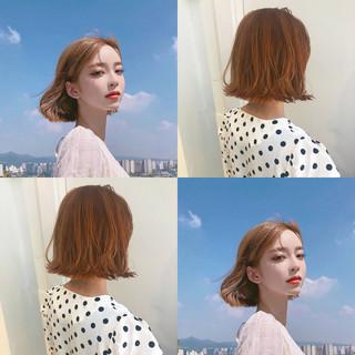 ナチュラル オフィス アンニュイほつれヘア 韓国 ヘアスタイルや髪型の写真・画像 ヘアスタイルや髪型の写真・画像