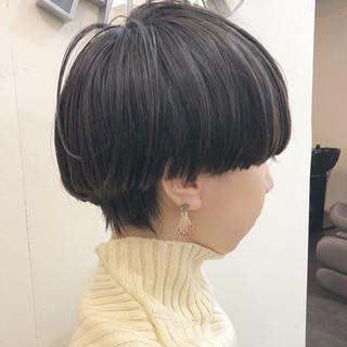 モード デート グラデーションカラー ショート ヘアスタイルや髪型の写真・画像