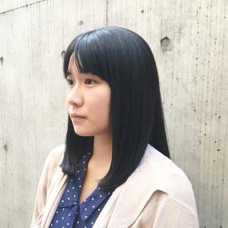 ツヤ髪 大人かわいい 黒髪 デート ヘアスタイルや髪型の写真・画像