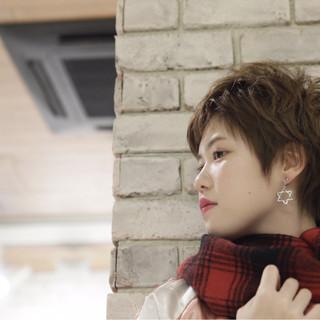 外国人風 ショート 大人かわいい ガーリー ヘアスタイルや髪型の写真・画像