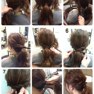 セミロング 簡単ヘアアレンジ ヘアアレンジ 大人かわいい ヘアスタイルや髪型の写真・画像