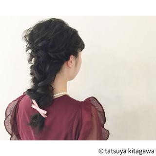 フェミニン 結婚式 ポニーテール 花嫁 ヘアスタイルや髪型の写真・画像