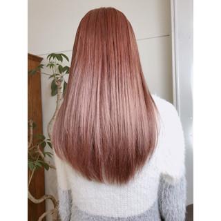 フェミニン ラベンダーピンク 春 セミロング ヘアスタイルや髪型の写真・画像 ヘアスタイルや髪型の写真・画像