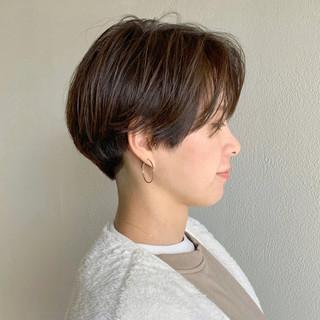 アッシュ ショート ショートボブ ボブ ヘアスタイルや髪型の写真・画像
