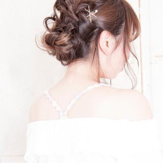 ゆるふわ ツイスト 編み込み ショート ヘアスタイルや髪型の写真・画像