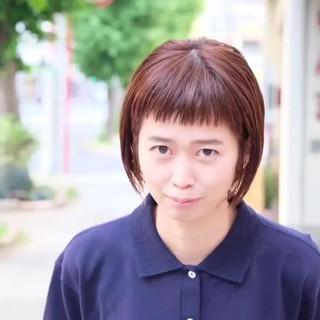 ストレート 女子力 前髪パッツン ボブ ヘアスタイルや髪型の写真・画像