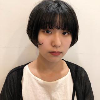 ナチュラル マッシュショート 小顔ショート 似合わせカット ヘアスタイルや髪型の写真・画像