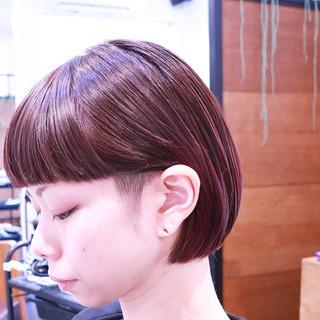 ピンク ボブ モード グラデーションカラー ヘアスタイルや髪型の写真・画像