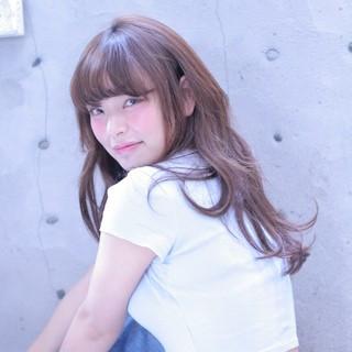 ロング ゆるふわ 大人かわいい ウェーブ ヘアスタイルや髪型の写真・画像
