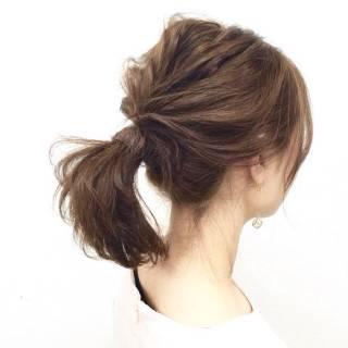 愛され ヘアアレンジ ポニーテール コンサバ ヘアスタイルや髪型の写真・画像