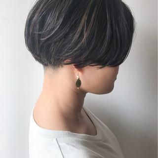 ショート ボブ ハイライト ショートボブ ヘアスタイルや髪型の写真・画像