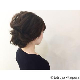 花嫁 ヘアアレンジ ゆるふわ セミロング ヘアスタイルや髪型の写真・画像