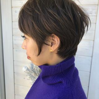 色気 ショート ボブ マッシュ ヘアスタイルや髪型の写真・画像