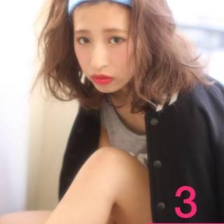 ミディアム 春 パンク ストレート ヘアスタイルや髪型の写真・画像