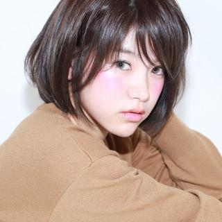イルミナカラー 黒髪 暗髪 アッシュ ヘアスタイルや髪型の写真・画像