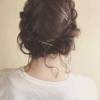 大人かわいい デート ヘアアレンジ 前髪あり ヘアスタイルや髪型の写真・画像