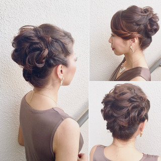 アップスタイル ロング 結婚式 セクシー ヘアスタイルや髪型の写真・画像