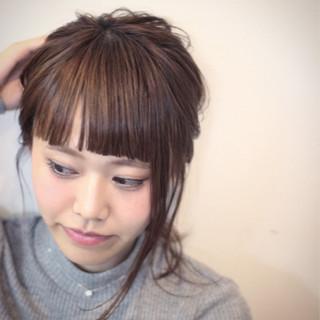 ミディアム 前髪あり ヘアアレンジ 大人女子 ヘアスタイルや髪型の写真・画像