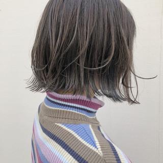 ボブ モード 外国人風カラー ストリート ヘアスタイルや髪型の写真・画像