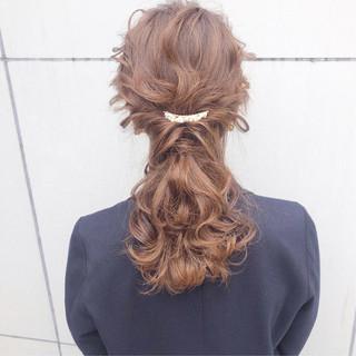 デート ヘアアレンジ 簡単ヘアアレンジ 結婚式 ヘアスタイルや髪型の写真・画像