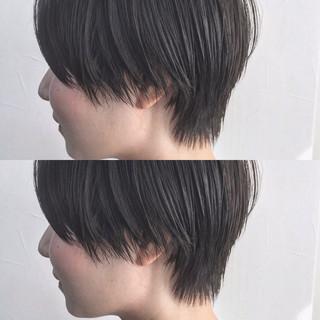 暗髪 ベリーショート ショートヘア 黒髪 ヘアスタイルや髪型の写真・画像