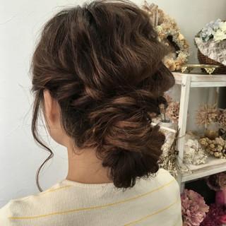 パーティ 波ウェーブ 結婚式 ヘアアレンジ ヘアスタイルや髪型の写真・画像