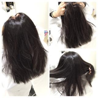 外国人風 アッシュ ロング ハイライト ヘアスタイルや髪型の写真・画像