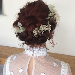 結婚式 デート ボブ ガーリー ヘアスタイルや髪型の写真・画像