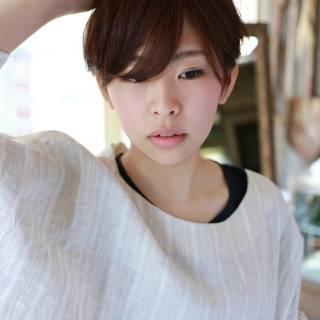 モテ髪 ショート コンサバ ナチュラル ヘアスタイルや髪型の写真・画像