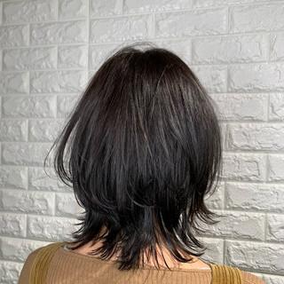 韓国ヘア/髪質改善/切りっぱなしボブさんのヘアスナップ