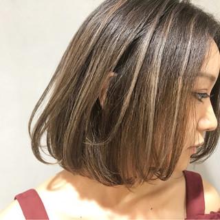 ハイライト ワンカール 秋 ワンレングス ヘアスタイルや髪型の写真・画像