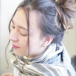 ブラウン ショート ヘアアレンジ セミロング ヘアスタイルや髪型の写真・画像 ヘアスタイルや髪型の写真・画像