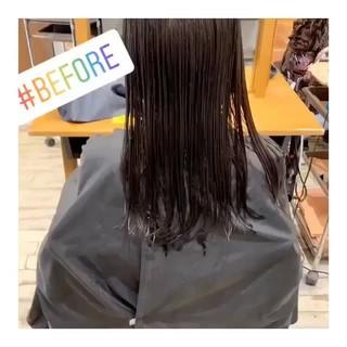 デジタルパーマ ミディアム ゆるふわパーマ 大人かわいい ヘアスタイルや髪型の写真・画像