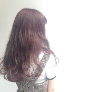 ロング ストリート パープル アッシュバイオレット ヘアスタイルや髪型の写真・画像