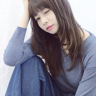 フェミニン 大人かわいい ロング ナチュラル ヘアスタイルや髪型の写真・画像 ヘアスタイルや髪型の写真・画像