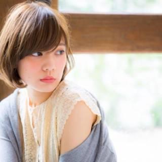 ショートボブ モテ髪 フェミニン ショート ヘアスタイルや髪型の写真・画像