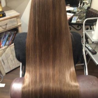暗髪 アッシュ グラデーションカラー ロング ヘアスタイルや髪型の写真・画像