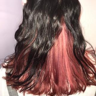 モード ピンク ミディアム ヘアアレンジ ヘアスタイルや髪型の写真・画像