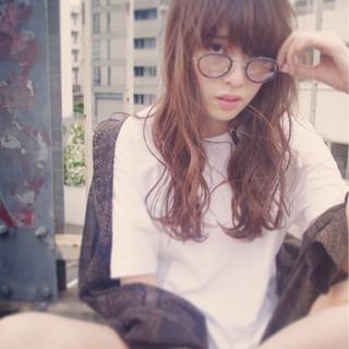 暗髪 ロング ワイドバング 外国人風 ヘアスタイルや髪型の写真・画像
