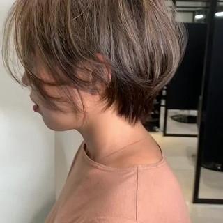 ミニボブ ショート お洒落 スポーツ ヘアスタイルや髪型の写真・画像