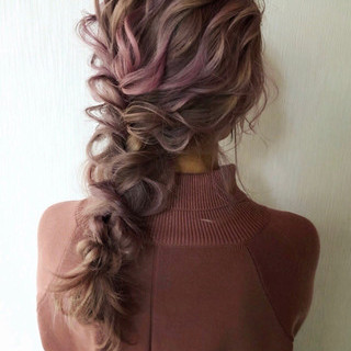ヘアアレンジ ゆるナチュラル ロング 結婚式 ヘアスタイルや髪型の写真・画像 ヘアスタイルや髪型の写真・画像