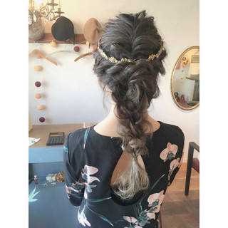 結婚式 ガーリー ロング デート ヘアスタイルや髪型の写真・画像