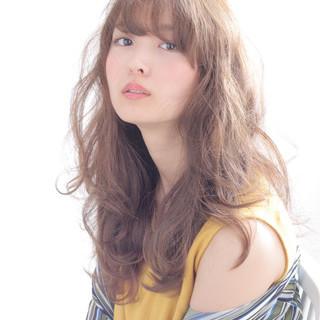 くせ毛風 ロング ゆるふわ 大人かわいい ヘアスタイルや髪型の写真・画像