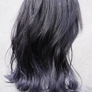 ローライト ガーリー ハイライト ミディアム ヘアスタイルや髪型の写真・画像