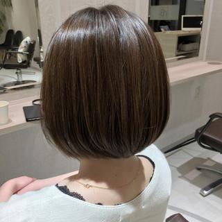 ミニボブ ハイライト トリートメント ボブ ヘアスタイルや髪型の写真・画像 ヘアスタイルや髪型の写真・画像