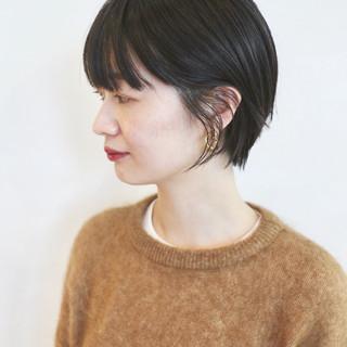 マッシュショート ショートヘア ショートボブ 黒髪ショート ヘアスタイルや髪型の写真・画像