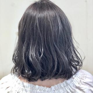 フェミニン ボブ ゆるふわ ウェーブ ヘアスタイルや髪型の写真・画像