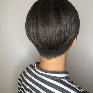 川越 ハイライト 暗髪 ショート ヘアスタイルや髪型の写真・画像